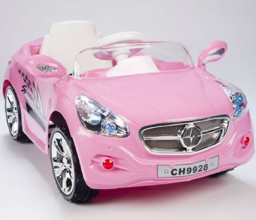 Kids Amg Style Girls Pink Ride On Rc Car Remote Control Electric